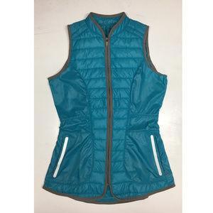 Lija Teal Armadillo Insulated Golf Vest Womens XS